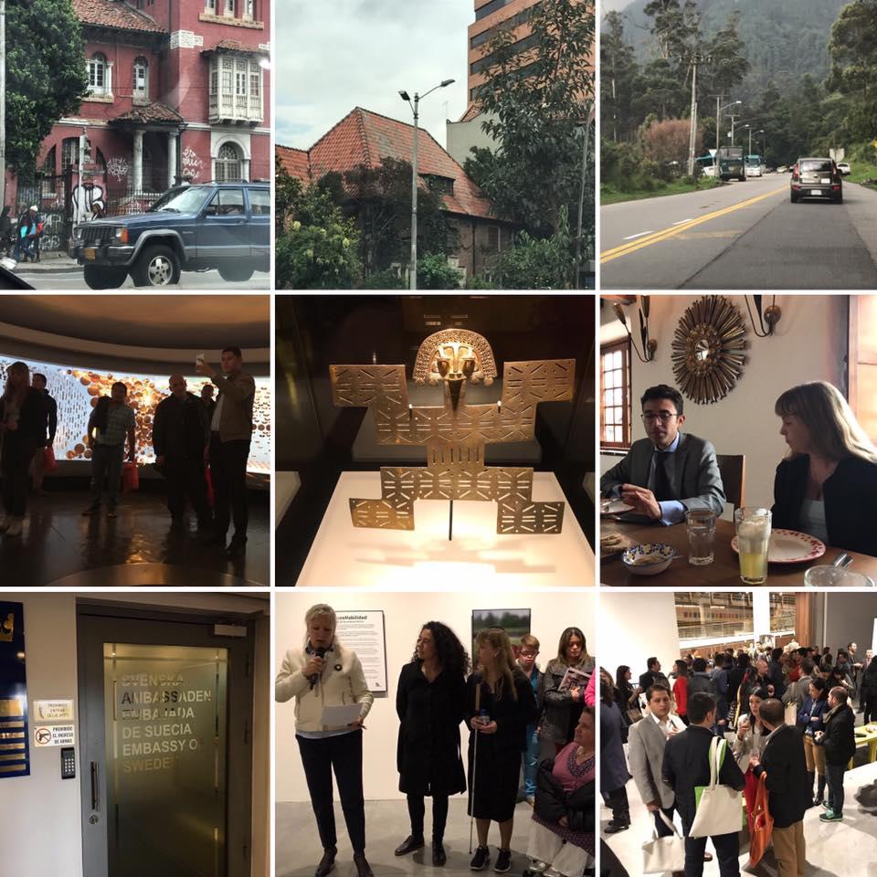 Guldmuseum, föreläsning och underbar miljö, kollage 9 bilder.