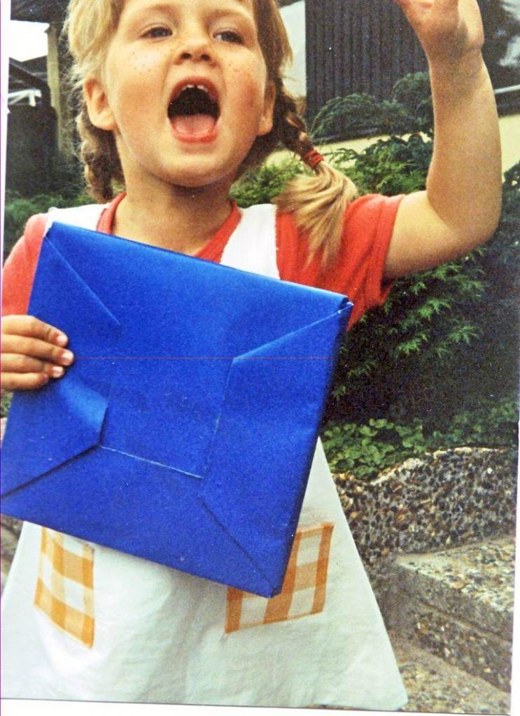 Jag som barn utklädd till Pippi Långstrump.
