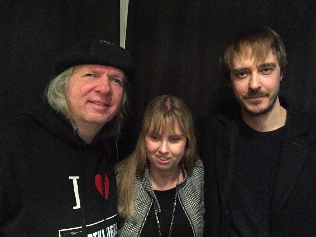 Bild på Ulf Nordquist, jag och skådespelaren Jonas Karlsson